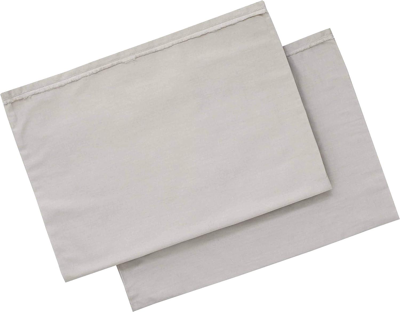 ED Ellen DeGeneres Love Solid Pillowcase Pair, Standard Cases, Oyster