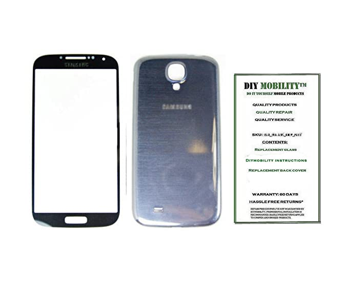detailed pictures 349e7 488ff Amazon.com: Samsung Galaxy S4 BLACK Replacement Glass Screen with ...