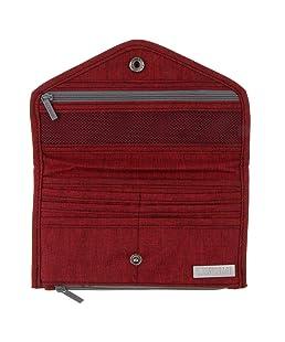 Prettyia New Women Men Phone Pocket Coin Purse Wallet Clutch Long Passport ID Holder - Red, as described