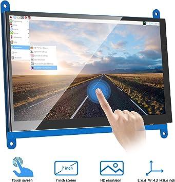 VANYE Pantalla Táctil Capacitiva Resolución LCD 1024 x 600 Monitor ...