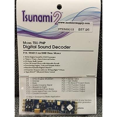 SOUNDTRAXX 885013 Tsunami2 DCC Sound Decoder TSU-PNP, EMD Diesel: Toys & Games