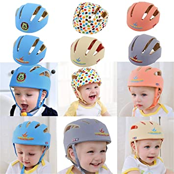 Orange Children Safety Headguard Harnesses Protection Hat for Running Walking Crawling Kids Baby Safety Helmet Girls Boys Adjustable Protective Cap