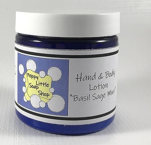 Amazon.com: Handmade Vitamin E lotion, vegan lotion for dry skin, moisturizing cream lotion, natural lotion with aloe vera, BASIL SAGE MINT scent: Handmade