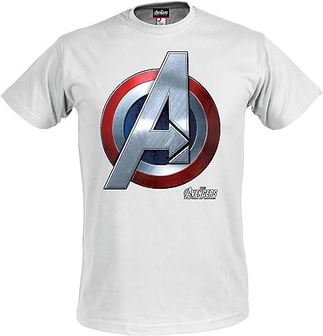 Los Vengadores, la Era de Ultron camiseta oficial logotipo de Capitán América superhéroes Marvel blanco - XXXL: Amazon.es: Ropa y accesorios