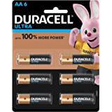 Duracell Ultra Alkaline AA Batteries (Pack of 6)