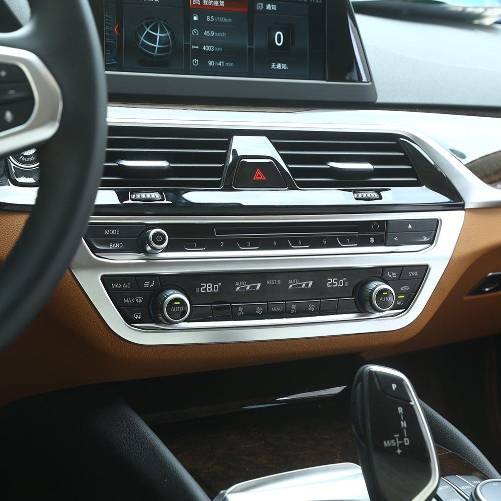 F/ür Neue 5 Serie G30 2017 2018 Auto ABS Matt Silber Interior Center Klimaanlage Rahmen Abdeckung Trim Auto Zubeh/ör 1 st/ück