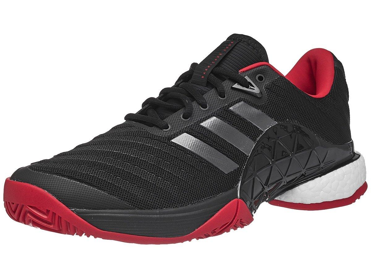 brand new 53539 adc45 Galleon - Adidas Mens Barricade 2018 Boost BlackNightScarlet