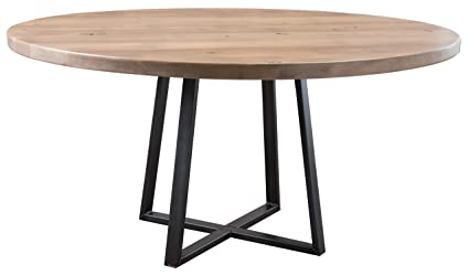 Amazon.com - Round Industrial Steel Pedestal Table (60 ...
