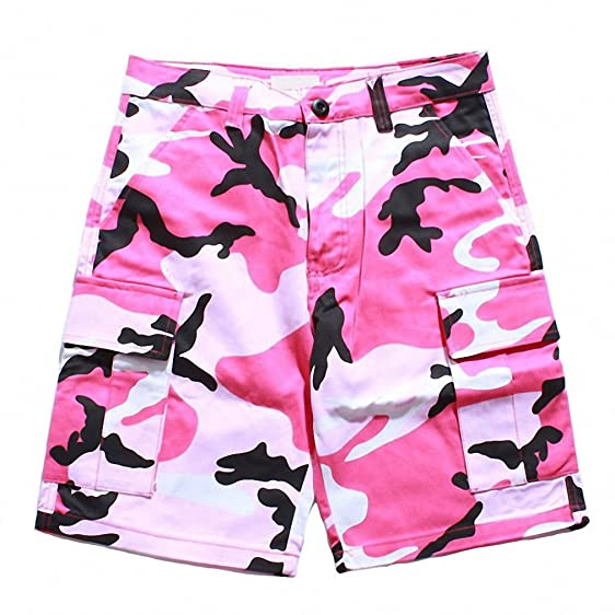 fcd2b433e2 Camouflage Shorts Homme Men Summer Military Style Print Cotton Camo Casual  Hip Hop Male Mid Short