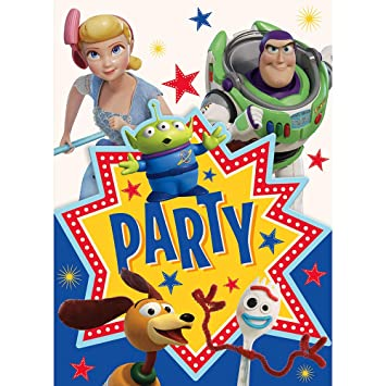 Unique Industries Disney Toy Story 4 Movie Invitations (8 ...
