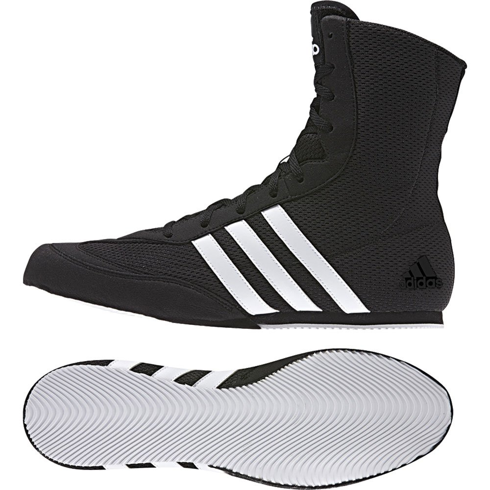 Adidas Box Hog 3 Black Boxing Boots Mens Sports Shoes Trainers Sizes 3.5-14