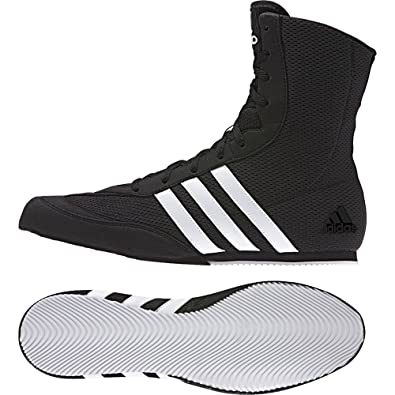 new products 6a448 79493 adidas Box Hog Kids Boxing Trainer Shoe Boot BlackWhite - US 5.5