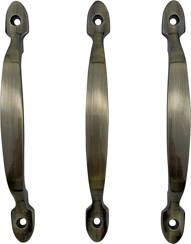 paquete de 3 Tirador de puerta sin herramientas de instalaci/ón de bronce