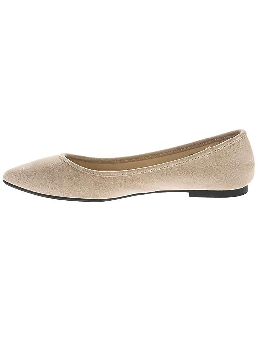 771248fcaca9f Amazon.com | Time and Tru Women's Almond Toe Flat Shoe Taupe | Flats