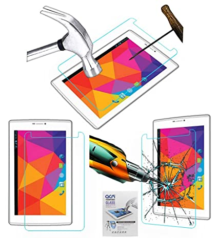 Acm Tempered Glass Screenguard Compatible with Micromax Canvas Tab P480 Tablet Screen Guard Scratch Protector Touch Screen Tablet Screen Protectors