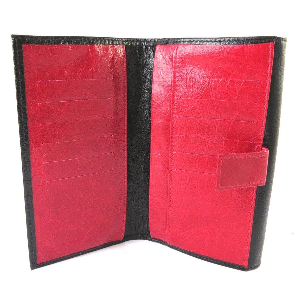 Wallet + checkbook holder leather 'Frandi' black red varnish. by Frandi (Image #6)