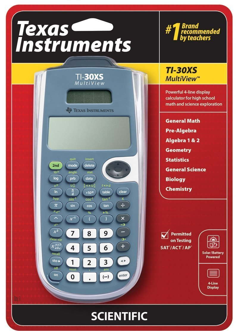 Texas Instruments TI-30XS MultiView Scientific Calculator 16-Digit LCD [12 PACK] SAVE MONEY NOW!