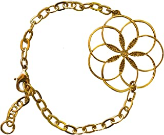 product image for 7 Rings of Peace Gold-Dipped Link Bracelet