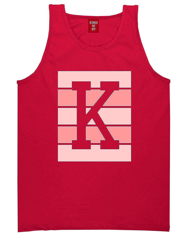 Kings Of NY Pink K Blocks Mens Tank Top