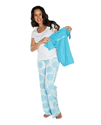 Baby Be Mine Maternity/Nursing PJ Set with Matching Baby Outfit at ...