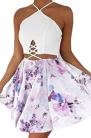 Vestido Playa Mujer Cortos Moda Floreadas Parche Work