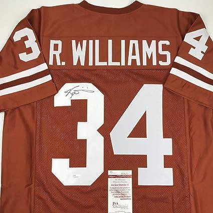 Autographed Signed Ricky Williams Texas Orange College Football Jersey JSA  COA 2766c0548