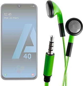 DURAGADGET Auriculares In-Ear con Luz LED Verde para Smartphone ...