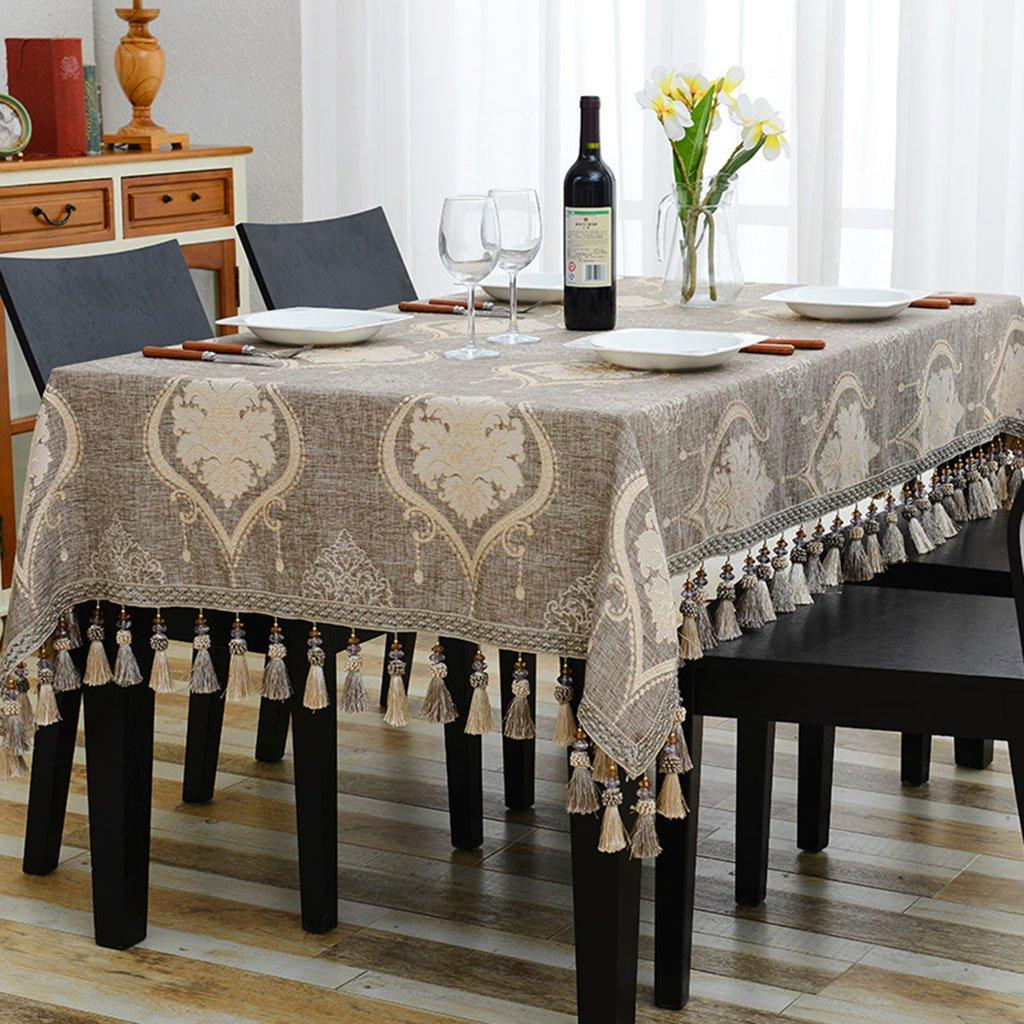 Küchenwäsche Rechteckige Tischdecke, europäischen westlichen Restaurant Tischdecken Tee Tischdecken Kunst Tischdecke Baumwolle und Leinen blau ( Farbe   A , größe   140220cm ) A 110170cm