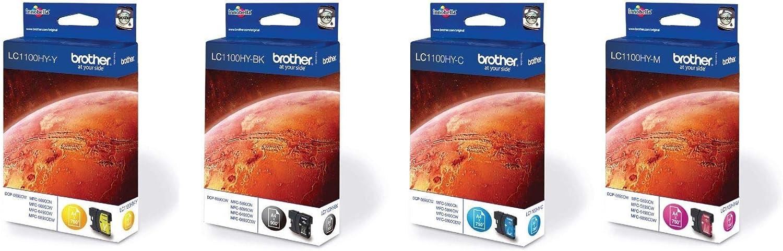 Brother Lc 1100hy Original Tintenpatronen Im Value Pack Für Brother Mfc 5890cn Mfc 5895cw Mfc 6490cw Dcp 6690cw Mfc 6890cdw Bürobedarf Schreibwaren