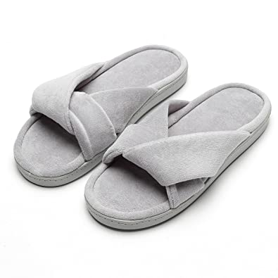 679533937cb House Slippers for Women Cozy Memory Foam Home Shoes Knitted Cotton Indoor  Spa Non-Skid