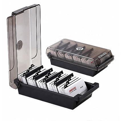Visitenkarten Box Für 500 Karten Bussiness Card Box Mit Trennfächern Und Index Taben Alternative Zu Visitenkartenmappe Visitenkartenhalter