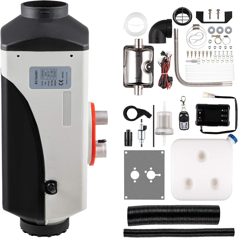 Orion Motor Tech 5KW 12V Calentador de Aire Diesel Calefacción Estacionaria Diesel Portátil de Control LCD Air Diesel Heater de Control Remoto para Autobus, Camión, Coche