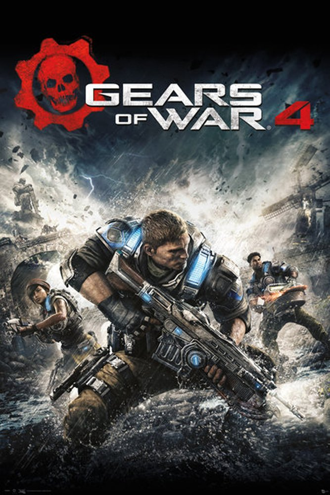 Amazon.de: Gears Of War 4 - Game Cover - Game Poster Spiele Poster ...