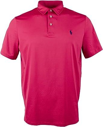 Polo Ralph Lauren Mens rendimiento absorbe camiseta Polo - Rosado -: Amazon.es: Ropa y accesorios