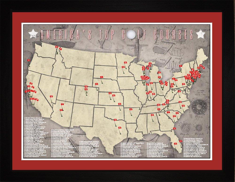 Amazoncom PGA Pro Golfer Top US Golf Courses Tracking Location - Us golf course map
