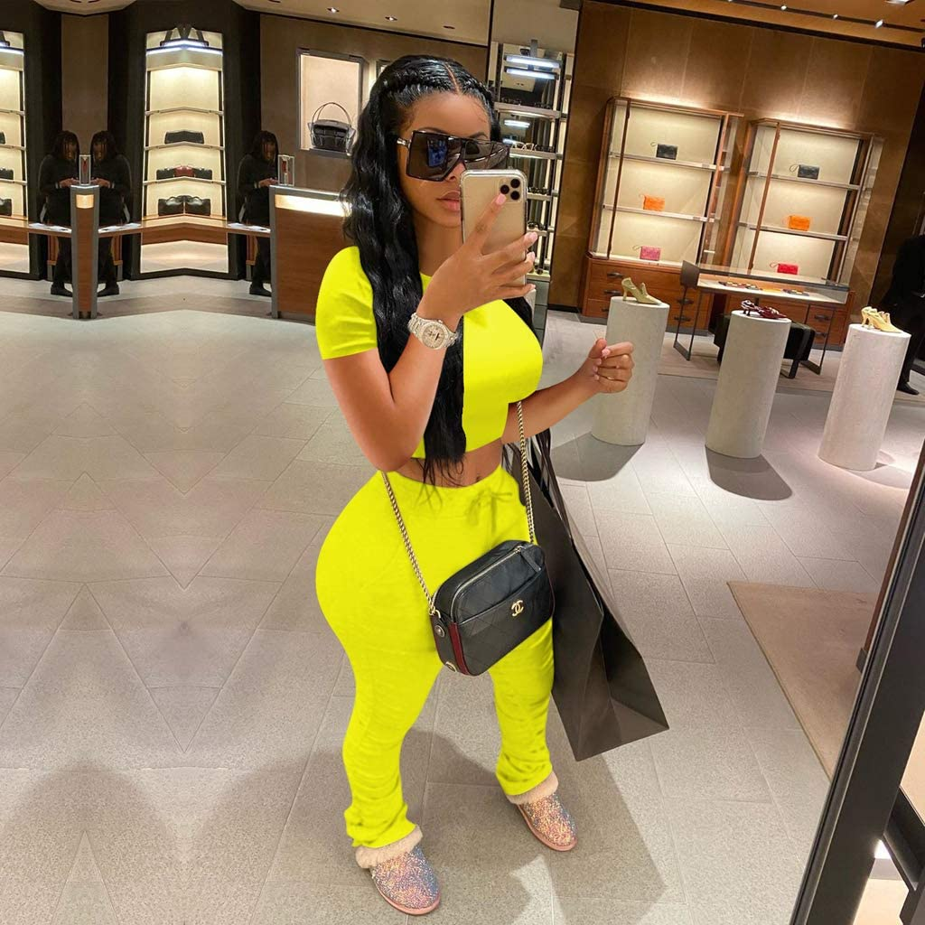 Womens Two Piece Tracksuit Set 2 Pc Outfits Sweatsuits Jumpsuits