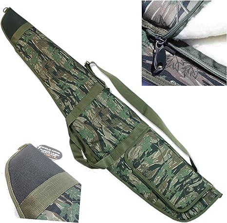 De lujo Camuflaje Acolchado Rifle Escopeta Estuche Deslizarse Más largos Para silenciador: Amazon.es: Deportes y aire libre