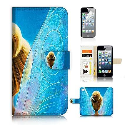 coque pour iphone 5 s porte feuille avec fee