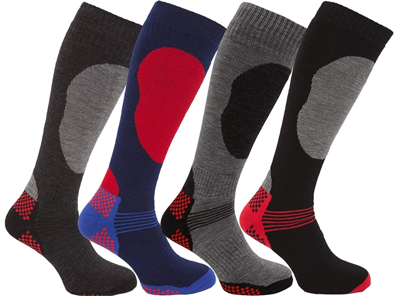 i-Smalls Boy`s 4 Pairs High Performance Ski Socks Long Hose Thermal Socks