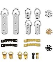 marco de fotos ganchos KAKOO 141pcs para colgar distintos tipos de cuadros con tornillos de vario