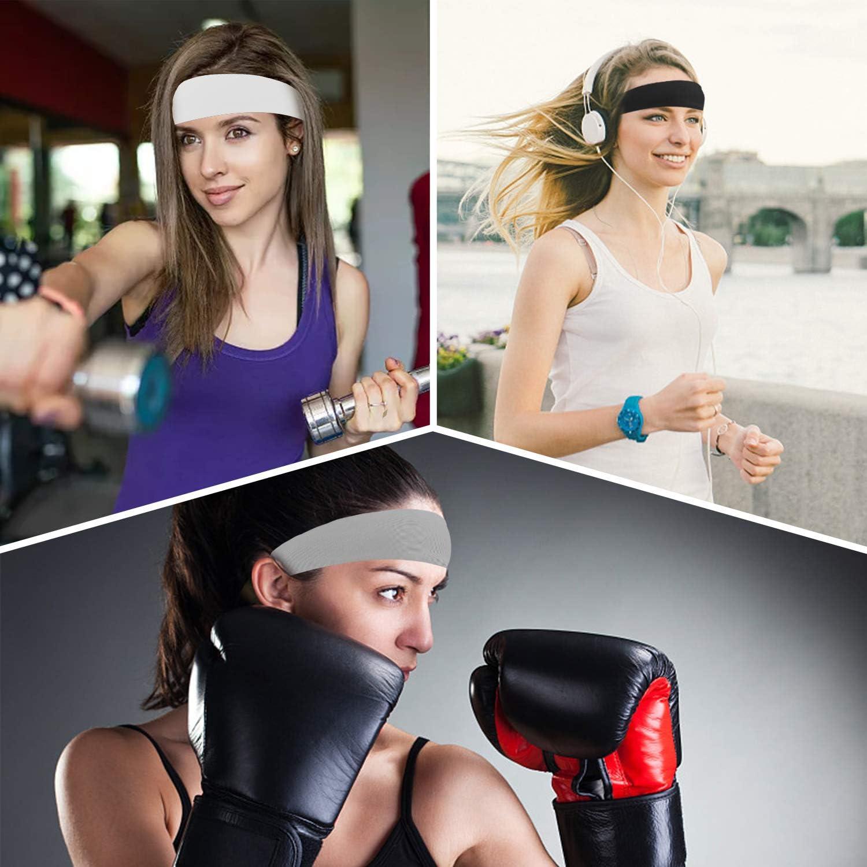 COOLOO Mens Headband 2 Pack Guys Sweatband Sports Headband for Men Women Unisex Performance Stretch /& Moisture Wicking for Running Work Out Gym Tennis Basketball