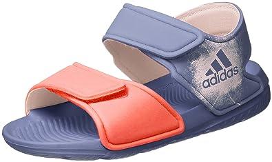 5899b1f921b307 adidas Unisex-Kinder Altaswim Sandalen Violett (Super Purple Haze Easy  Coral)
