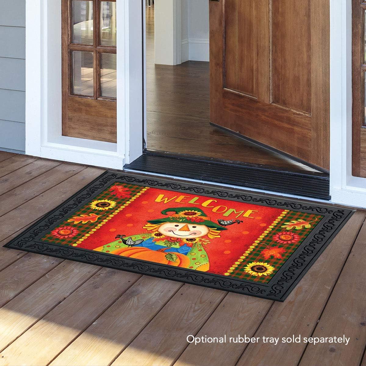 Briarwood Lane Harvest Scarecrow Fall Doormat Primitive Autumn Indoor Outdoor 18 x 30