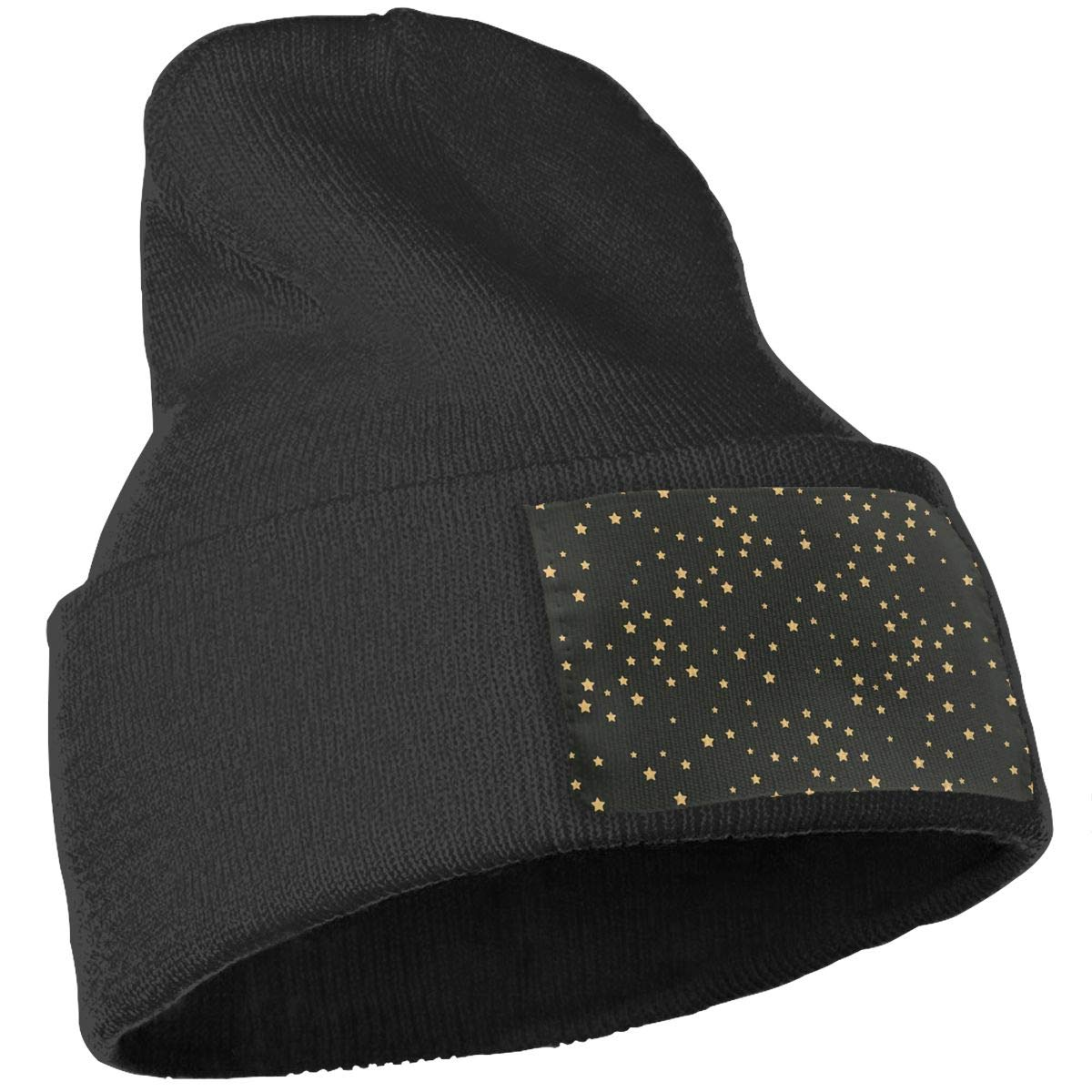 PCaag7v Stars Beanie Hat Winter Solid Warm Knit Unisex Ski Skull Cap