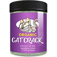 Cat Crack Organic Catnip, Premium Safe Nip Blend, Infused with Maximum Potency Your Kitty Will be Sure to Go Crazy for 1…