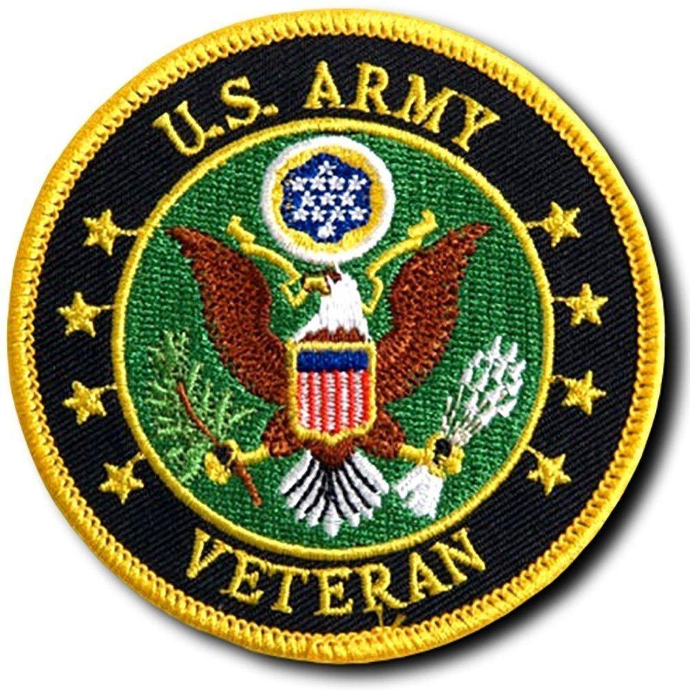Veteran Militaryラウンド3.0インチIron on Sew onパッチby miltacusa   B07781LYR7
