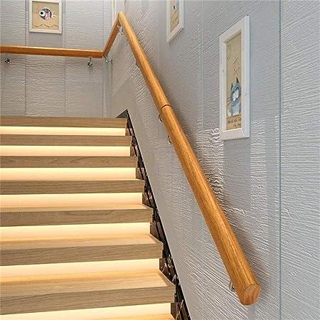 Llq Hands Pasamanos, escaleras 30-600cm Retro del Garaje de Madera Maciza Escalera de barandilla metálica, Piscina, Gimnasio, Pista de Baile los niños de la Escalera pasamanos (Color : 210cm): Amazon.es: Hogar