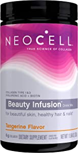 NeoCell Beauty Infusion Collagen Supplement Drink Mix Powder, 6,000mg Collagen Types 1 & 3, Tangerine Flavor, 11.64 Ounces (Package May Vary)