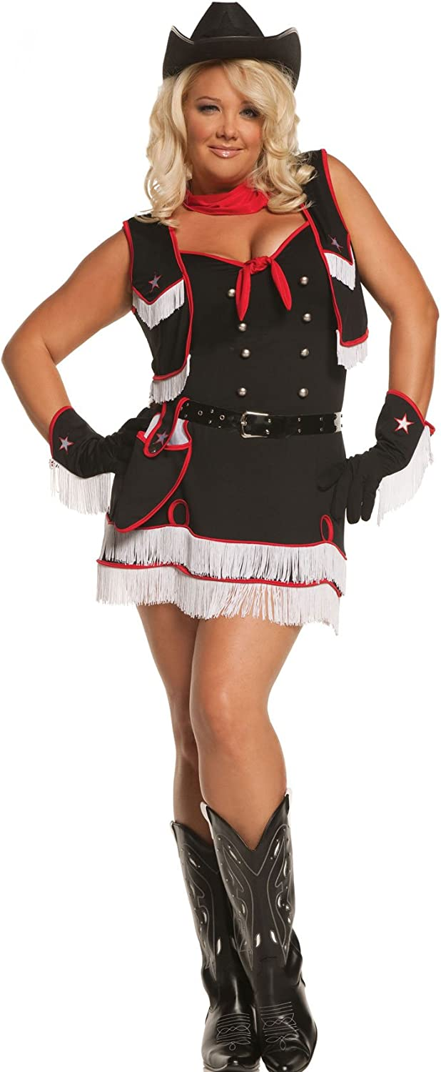 Amazon Com Plus Size Desperado Cowgirl Costume Womens 3x 4x 22 24 Clothing