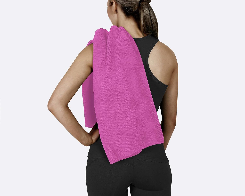 ジムフィットネススポーツヨガキャンプ100 %コットンテリータオル超ソフトby corner4shop B073TM22KR Hot Pink - 1 Pack Hot Pink - 1 Pack